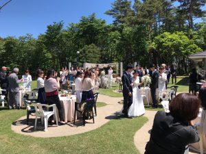 屋外での結婚式にご利用いただきました